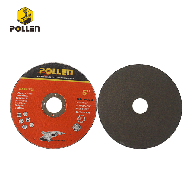 "T42 125x1.0mm Cutting Disc Maker 7/8"" Arbor Hole, Aluminum Oxide Girt 60"