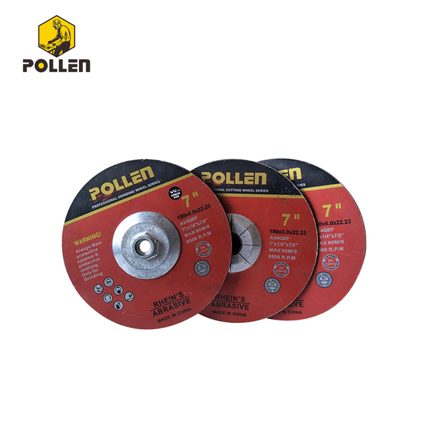 "5"" China Grinding Discs Manufacturer, 1/4"" Thickness, Metal A24Q, 7/8"" Arbor Size"